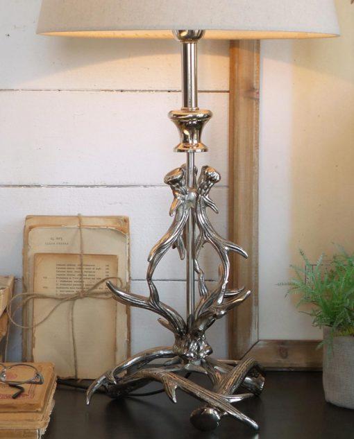 lampada alluminio con corna orchidea milano
