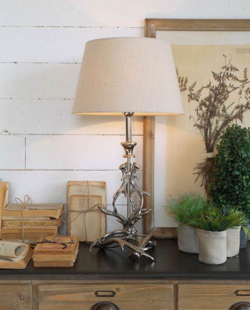 lampada ta tavolo alluminio st. moritz