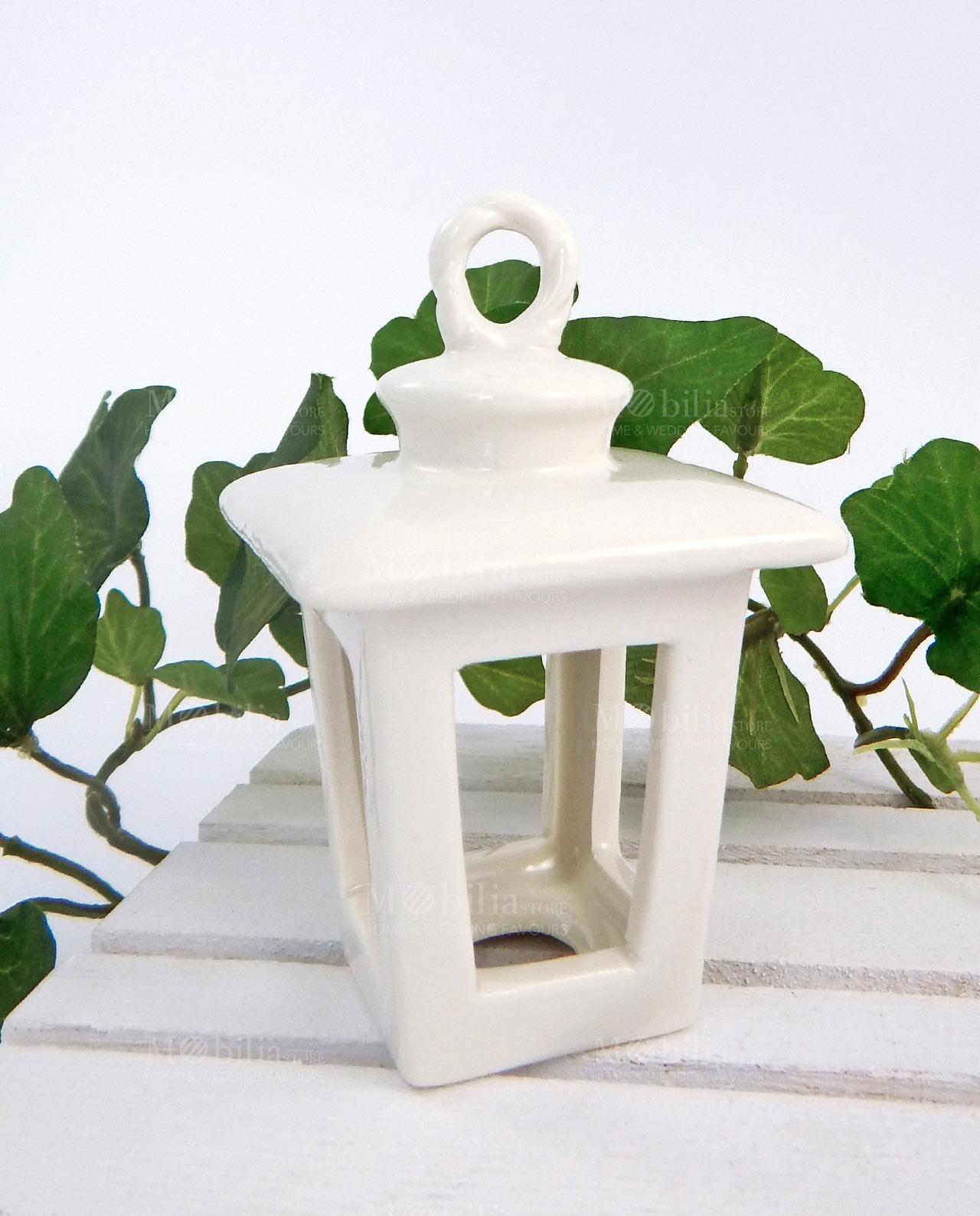Lanterne portacandele porcellana bianca - Lanterne portacandele ...