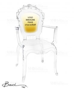 Sedie Personalizzabili Trasparenti Baci