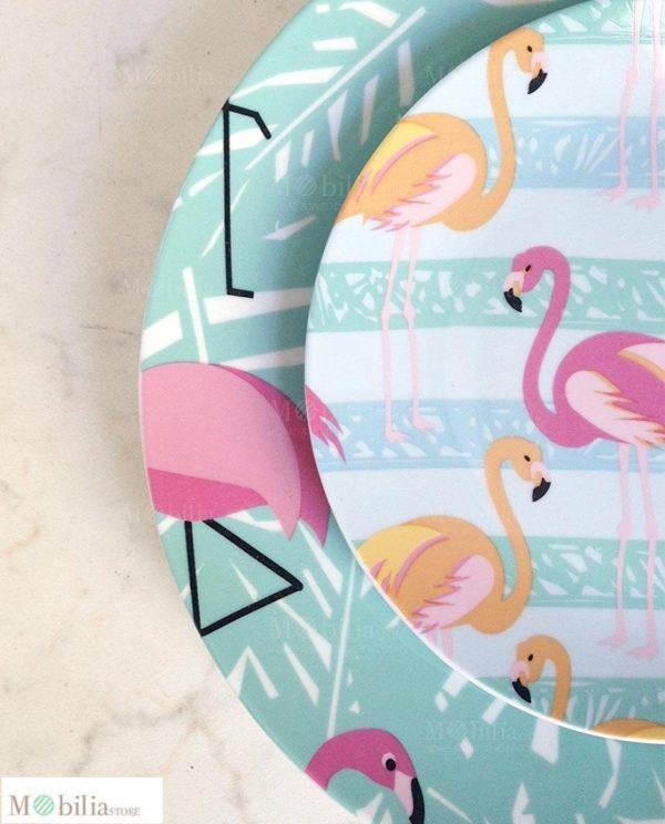 Servizio di Piatti 18 Pezzi Flamingo Villa d'Este