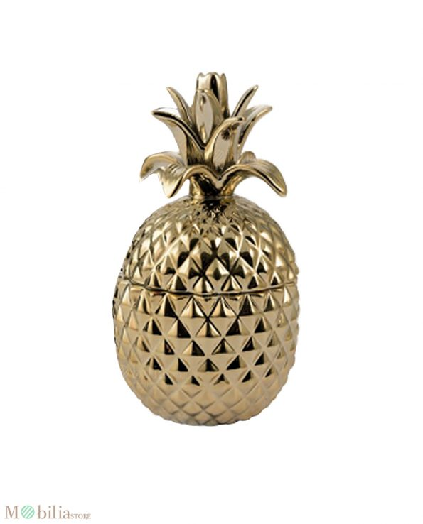 Gold Pineapple Decor