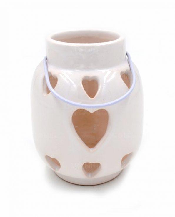 Lanterne portacandele ceramica cuore - Lanterne portacandele ...