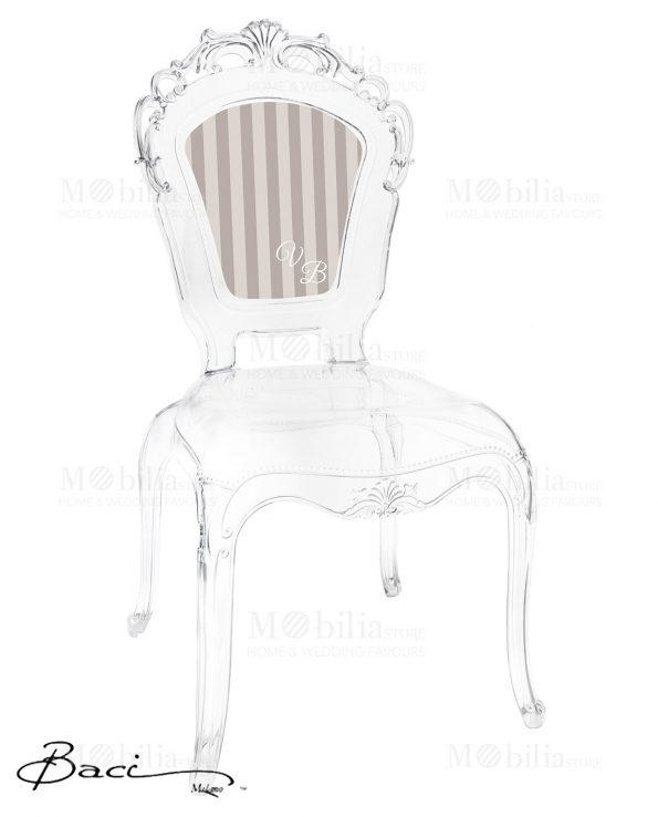 sedie trasparenti personalizzabili