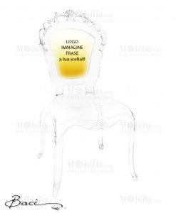 Sedie Trasparenti Personalizzate Baci