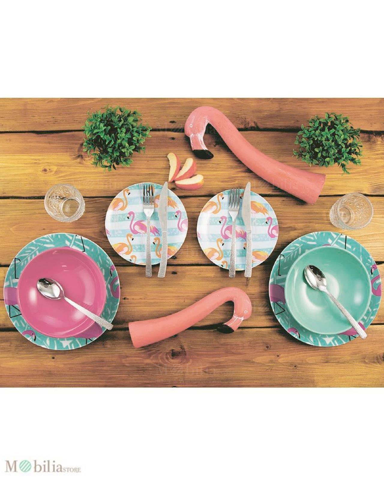 Servizio piatti villa d 39 este flamingo 18 pz mobilia for Servizio di piatti