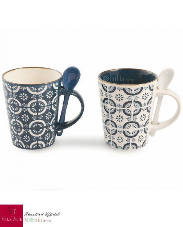 Set Mug con Cucchiaino Azul Villa d'Este
