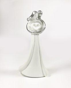 sposini moderni in bianco e argento