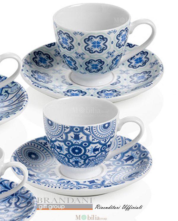 Set 4 Tazzine da Caffè Maiolica Brandani
