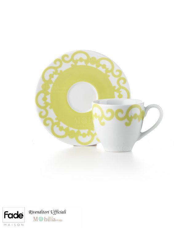 Set Tazzine Caffè Porcellana Arabesco Fade