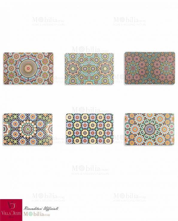 Set 6 Tovagliette Colazione Marrakech Villa d'Este