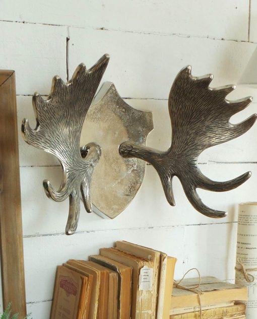 trofeo cervo in alluminio finitura vintage st moritz