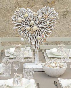 Cuore decorativo in legno bianco stile shabby cartai bassanesi