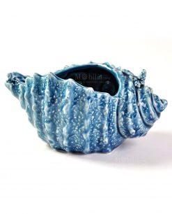 Retro conchiglia blu grande