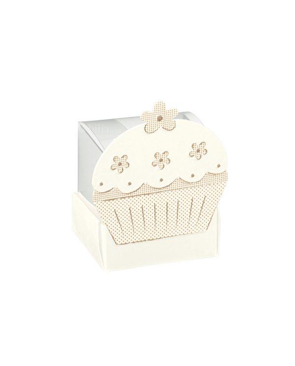 Scatole Cupcake Portaconfetti Tortora
