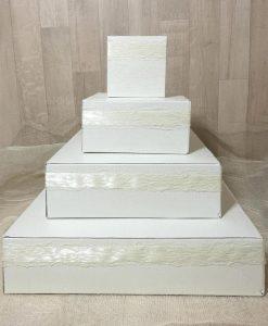Scatole porta bomboniere a forma di piramide cartai bassanesi
