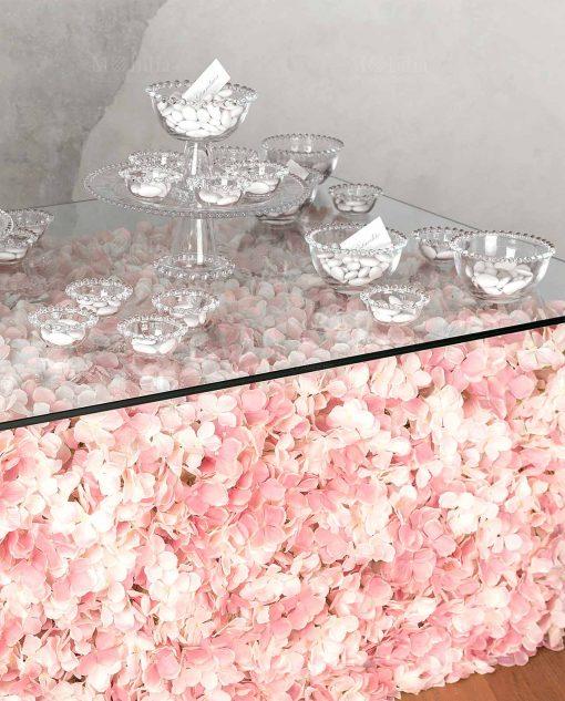 alzate per confettata matrimonio in vetro