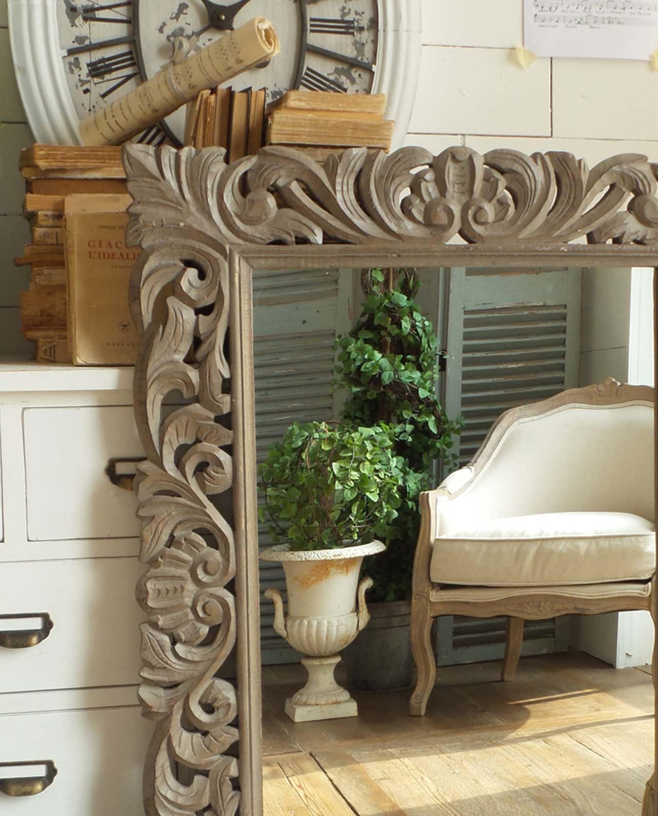 Accessori arredo casa specchi da parete in legno for Arredo casa shop