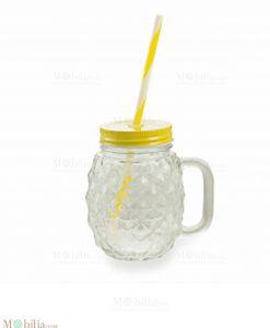 Bicchiere con Cannuccia Ananas Villa d'Este