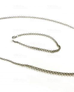 bracciale e collana argento tabor