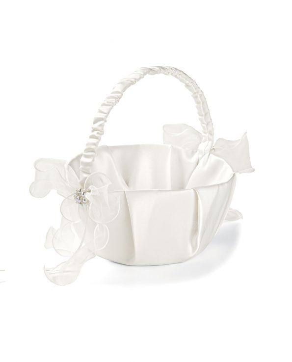 Cestini porta petali bianchi per damigelle novit e sconti - Cestini porta bomboniere ...