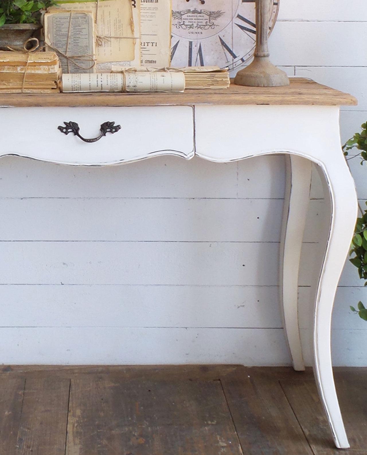 Arredamento casa consolle bianca in legno vintage for Consolle bianca
