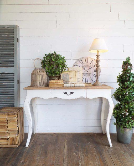 consolle vintage in legno bianco