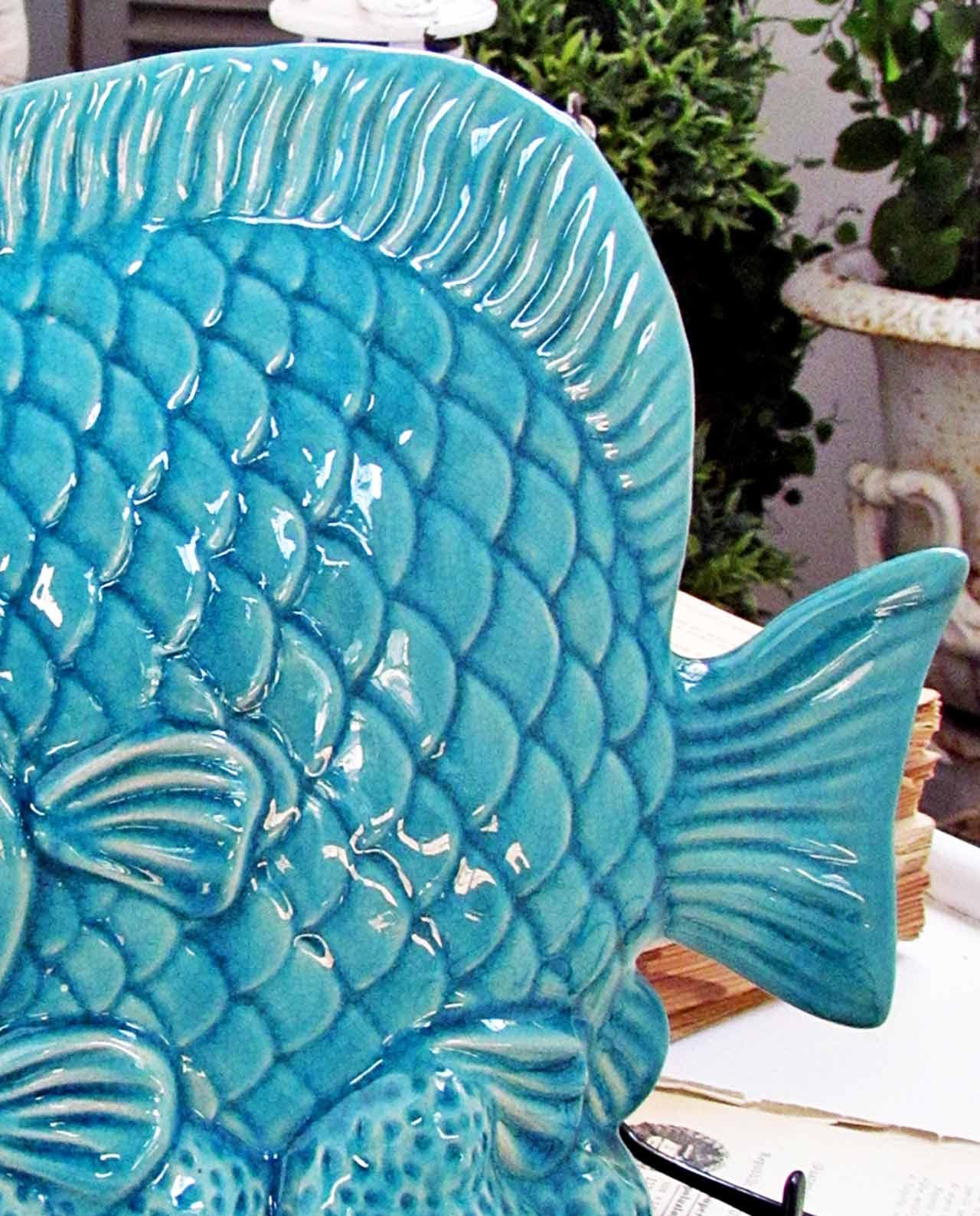 Decorazioni casa pesci in ceramica turchese for Oggettistica casa milano
