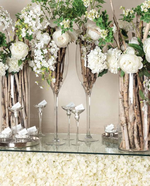 fiori per decorazione matrimonio foto ambientata