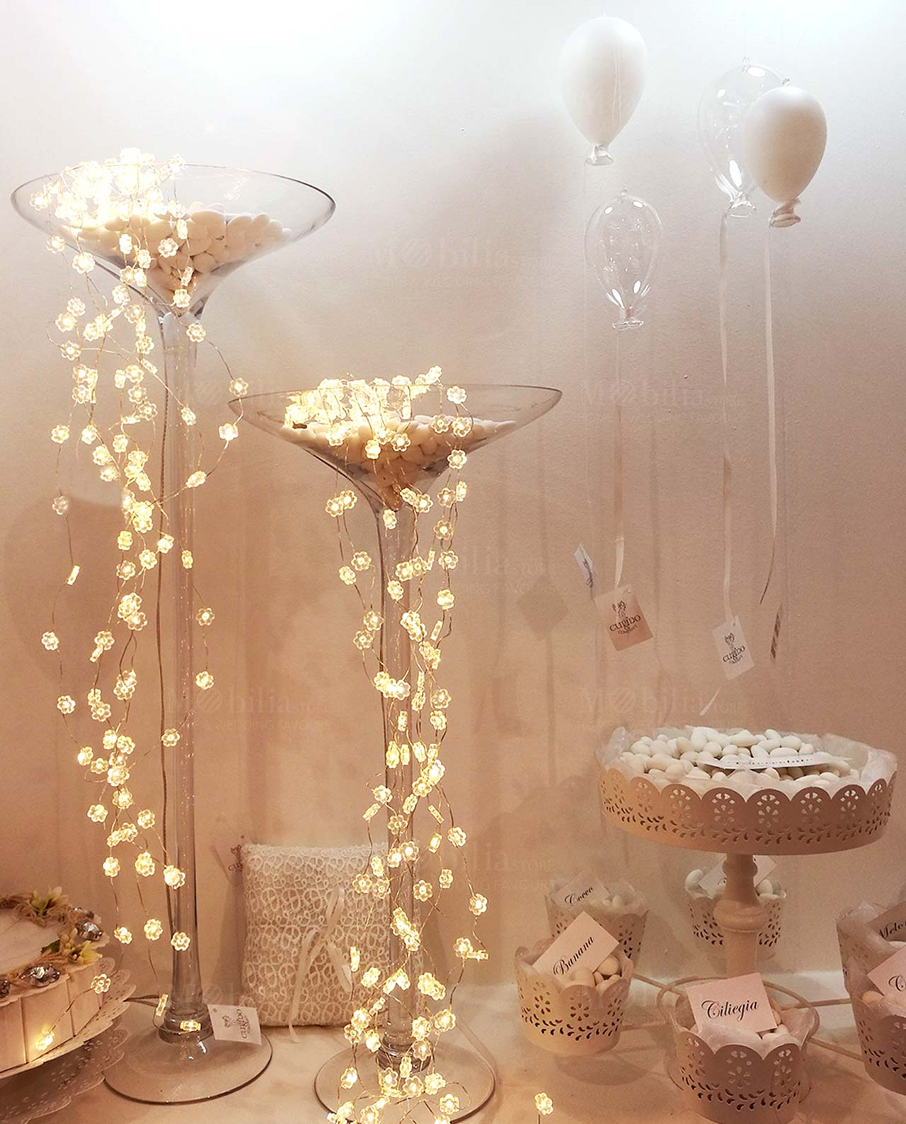 Luci a led con fiori mobilia store home favours for Luci al led