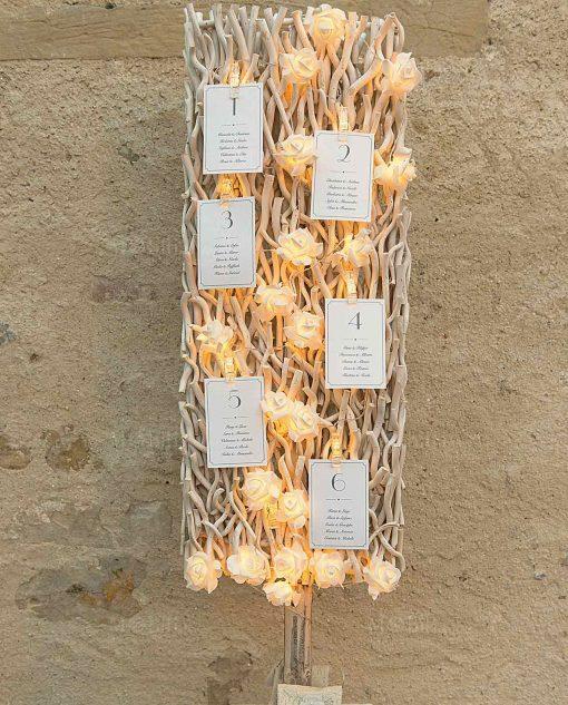 pannello decorativo tableau mariage con luci a led