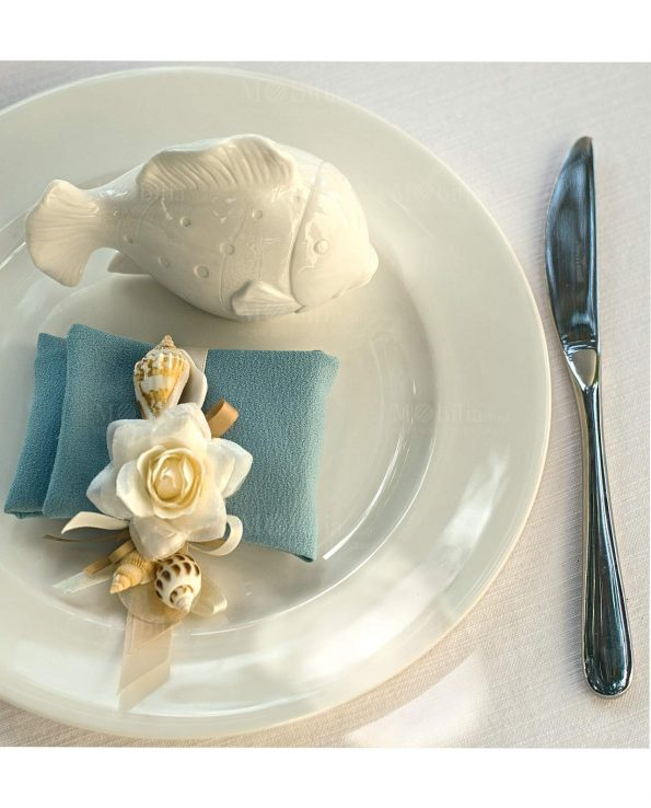 Pesci Decorativi in Porcellana Bianca