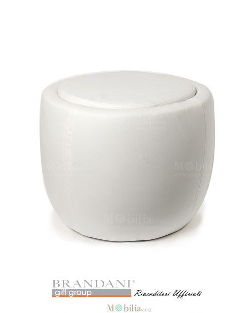 Pouf Bianco Contenitore Ecopelle
