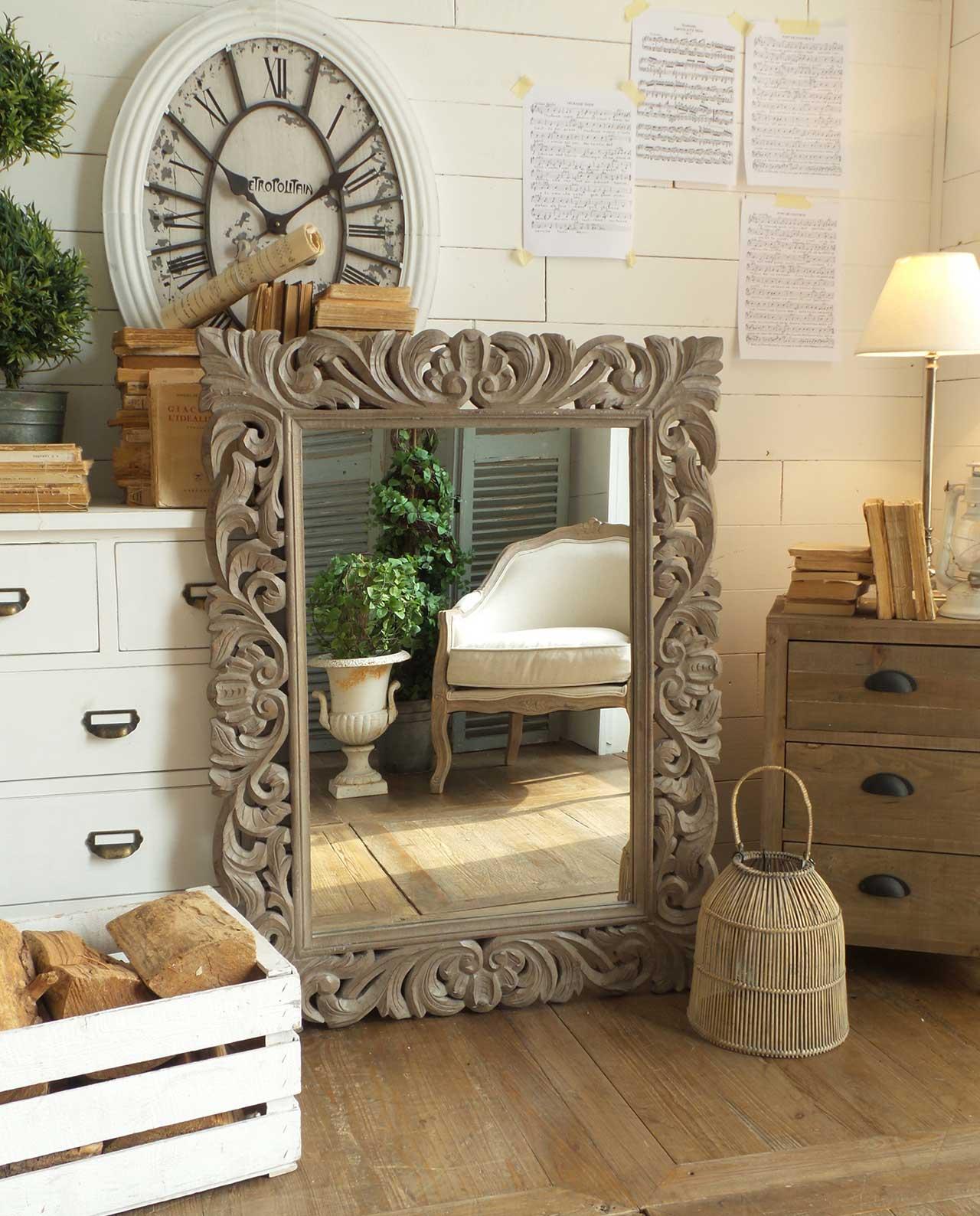accessori arredo casa specchi da parete in legno
