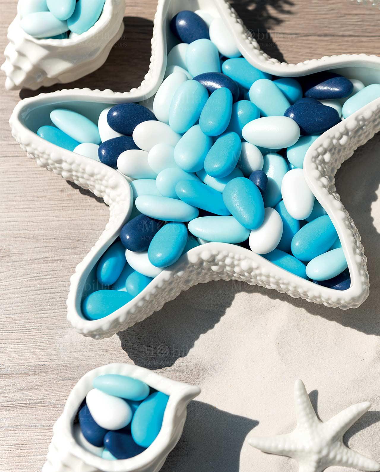 stelle marine ceramica con confetti cartai bassanesi