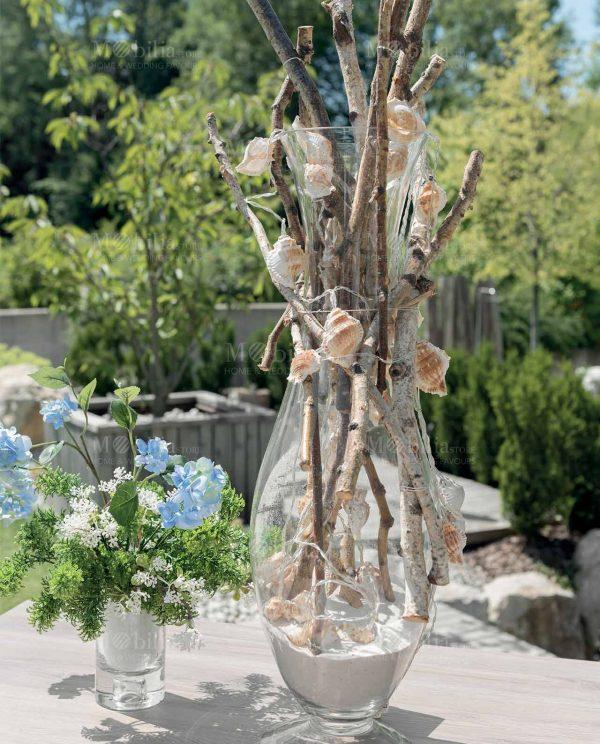 filo luci da esterno con conchiglie decorative