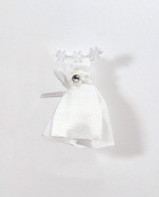 vestitino sposina bianco confezionato