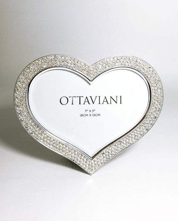 Portafoto cuore con strass Ottaviani