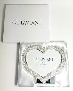 Portafoto cuore strass ottaviani con scatola imbottita