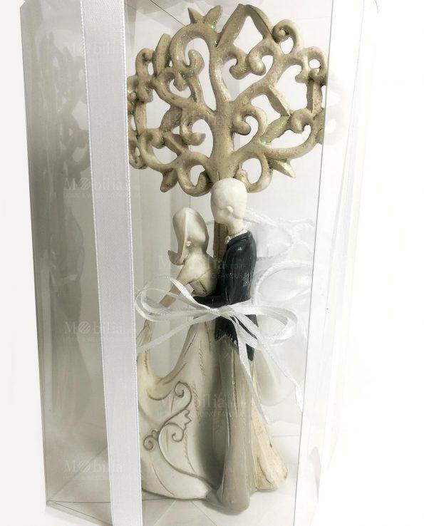 Coppia di sposi con albero della vita bomboniere set 2 forme assortite