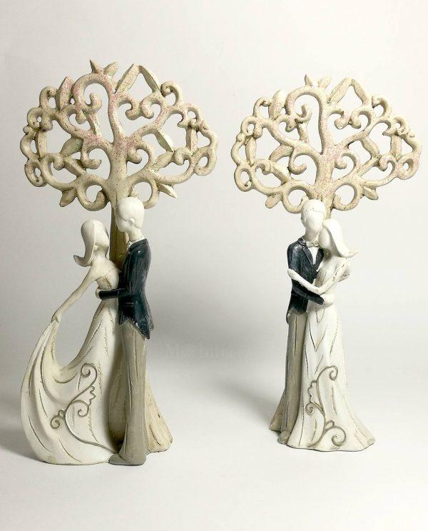 Coppia di sposi con albero della vita set 2 forme assortite