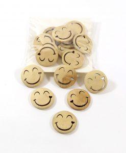 applicazioni faccine smile in legno