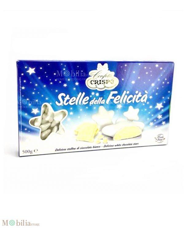 Confetti a forma di stella bianchi al cioccolato bianco