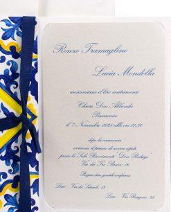 invito e partecipazione con stampa a blu perlato termoriliavo