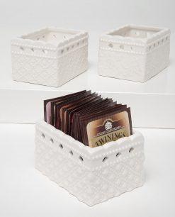 porta tea in ceramica linea dolci momenti ad emozioni