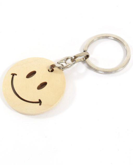 portachiavi in legno smile