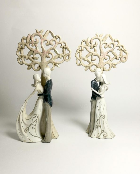 Coppia sposi bomboniera con albero della vita set 2 assortiti