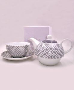teiera con tazza in ceramica novità bomboniere 2018