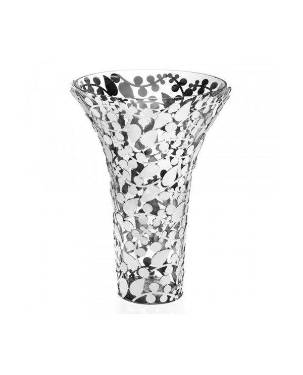 Vaso in metallo argentato Ottaviani modello Safari