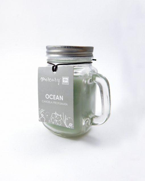 boccale con candela profumata oceano